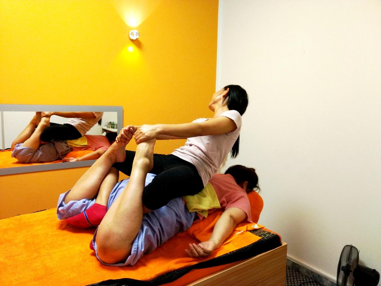 Traditionelle Thai Massage Position
